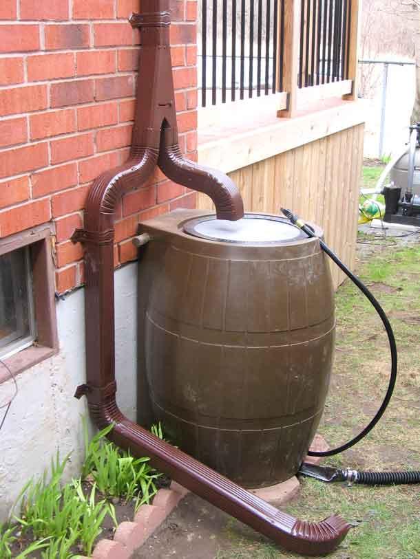 water saver rain barrel